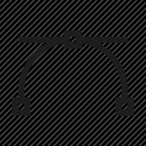 arc, curve, design, edit, point, tool, vertex icon