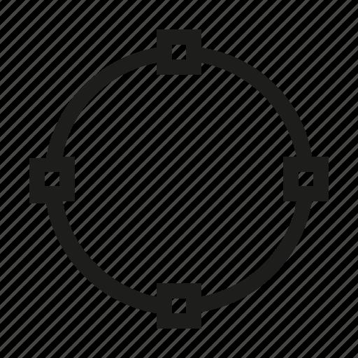 circle, design, edit, point, tool, transform, vertex icon
