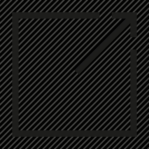 arrow, design, full, maximize, screen, tool, zoom icon