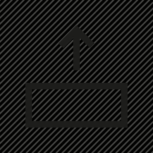 arrow, design, export, network, send, tool, upload icon