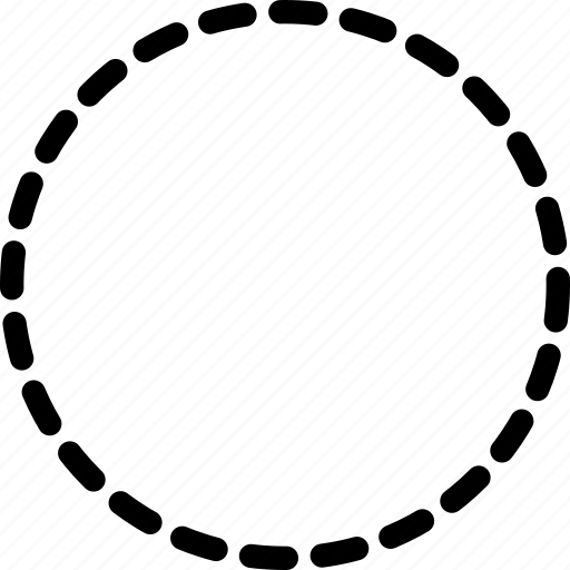 circle, design, dotted, tool icon