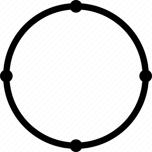 circle, design, pen, selected, tool icon
