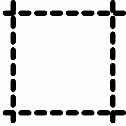 crop, design, dotted, tool icon