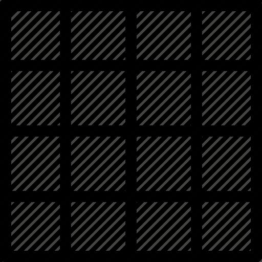 design, grid, tool icon