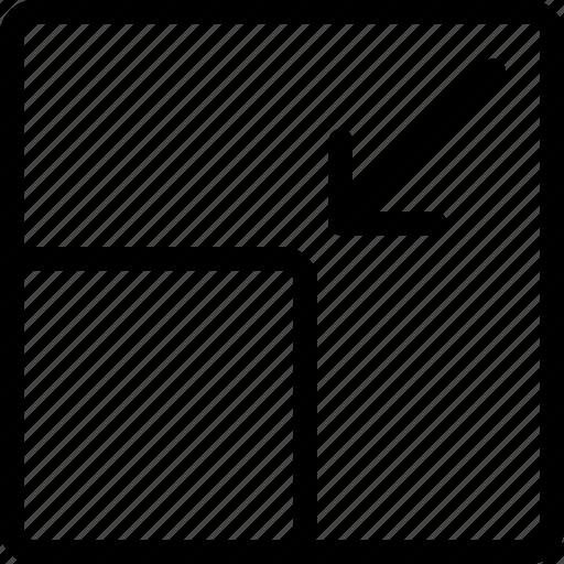 design, minimize, screen, tool icon