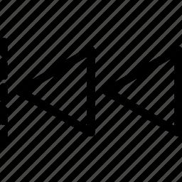 design, left, move, previous, tool icon