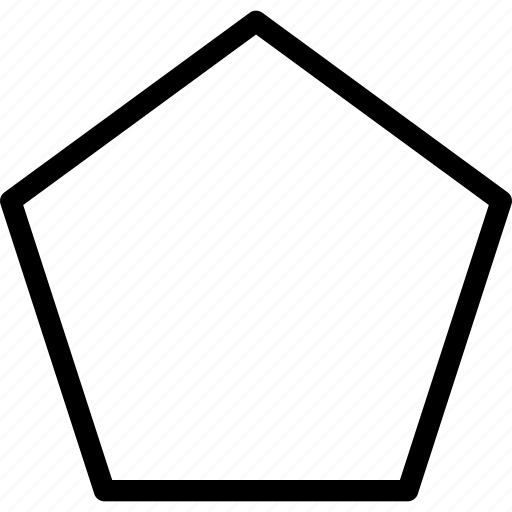 design, pentagon, tool icon
