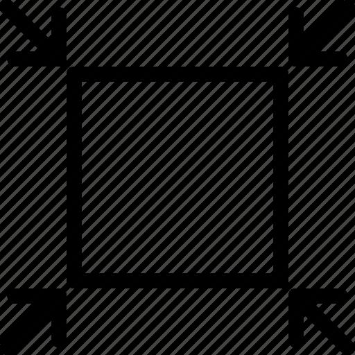 design, reduce, resize, tool icon