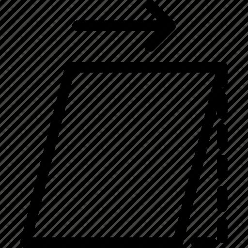 design, right, skew, tool, transform icon