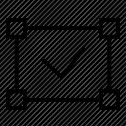 approve, compliance, creative, design, graphic, illustration, technical icon