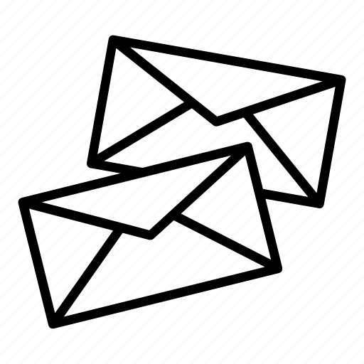 email, emails, envelopes, inbox, letters, mail, messages icon