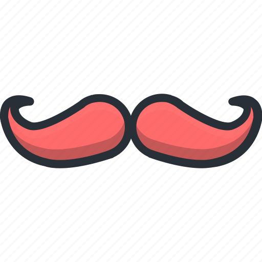 design, hipster, moustache icon