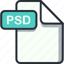 file, photoshop, psd, psd file icon