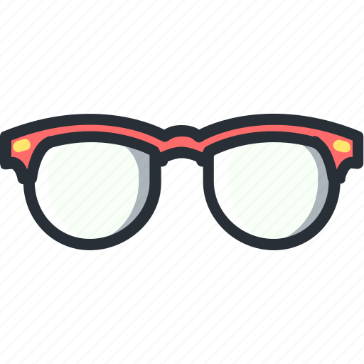 find, glasses, look, rayban, red icon