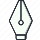 draw, pen, vector, writing icon