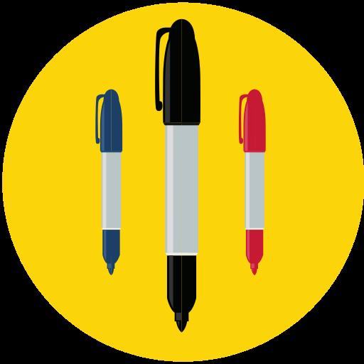 draw, marker, pen, sharpie icon