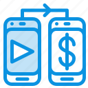 dollar, mobile, money icon