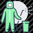 disinfector, bactericidal, aerosol, disinfection icon