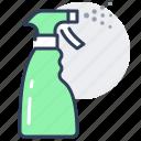 spray, starch, aerosol, bottle, disinfection