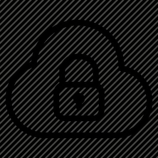 block, blocked cloud, close cloud, cloud, cloud access, lock, locked icon