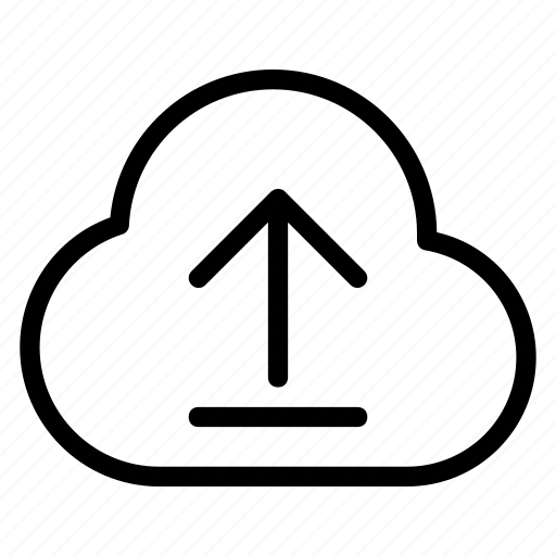 cloud, cloud service, data, upload, upload data icon