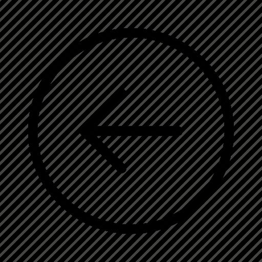 back, backward, left, previous, side icon