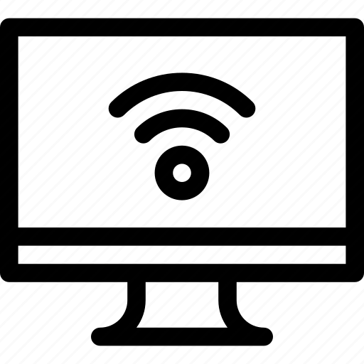access, connect, fi, monitor, signal, wi, wireless icon