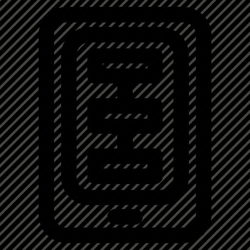app, develop, flowchart, mobile icon