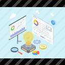business analysis, growth analysis, trend analysis, market research, data analysis icon