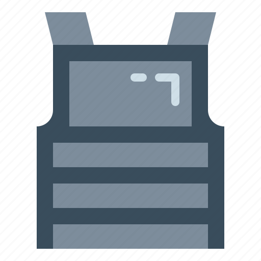 bulletproof, security, shell, vest, weapon icon