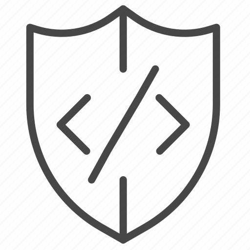 code, coding, program, protect, secure, verified icon