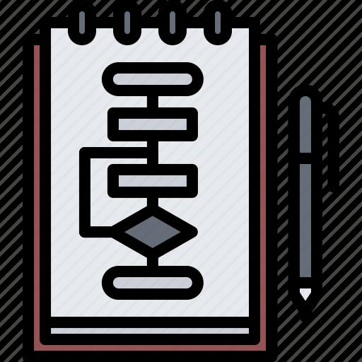 block, code, developer, development, diagram, notebook, programmer icon