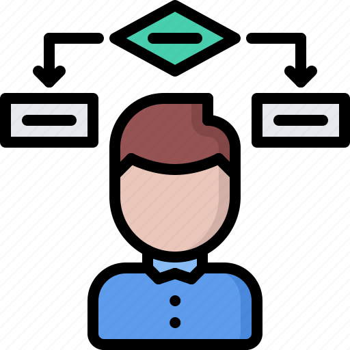 block, code, developer, development, diagram, man, programmer icon