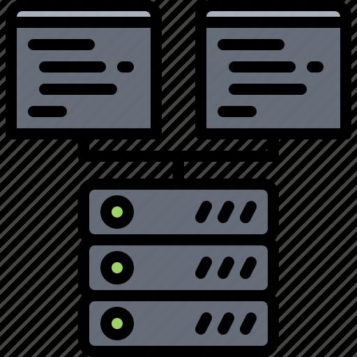 code, developer, development, hosting, programmer, server icon