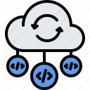cloud, code, developer, development, open, programmer, repository icon
