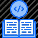 book, code, developer, development, education, programmer icon