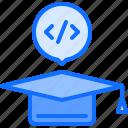 cap, code, developer, development, education, graduate, programmer icon