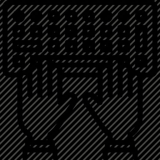 code, developer, development, hand, keyboard, programmer icon