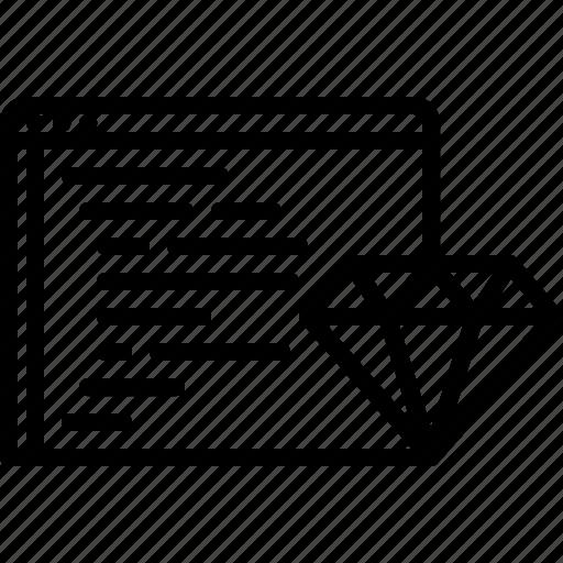 Clean, code, developer, development, diamond, programmer icon - Download on Iconfinder