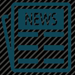 data, document, magazine, news, newspaper, paper icon