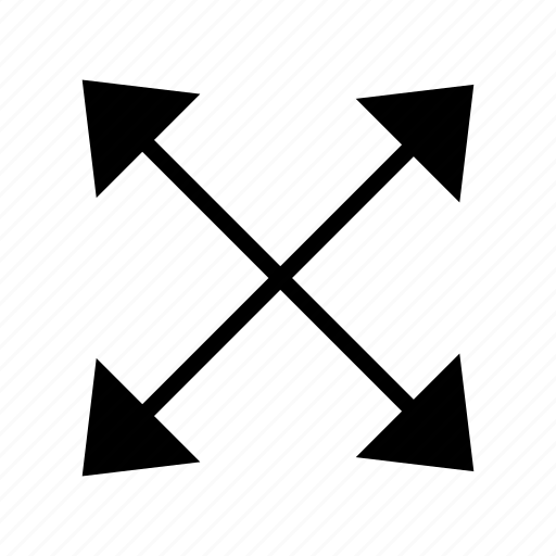 arrow, distribution, enlarge, expand, export, proportionally, resize icon