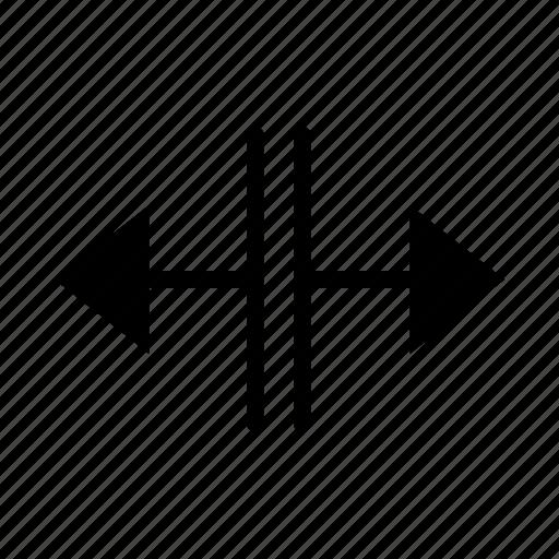 arrow, enlarge, expand, horizontal, resize, scale, size icon