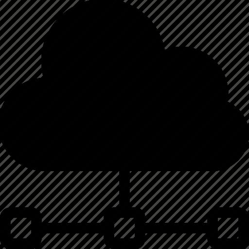 cloud computing, cloud network, cloud sharing, network sharing ... icon