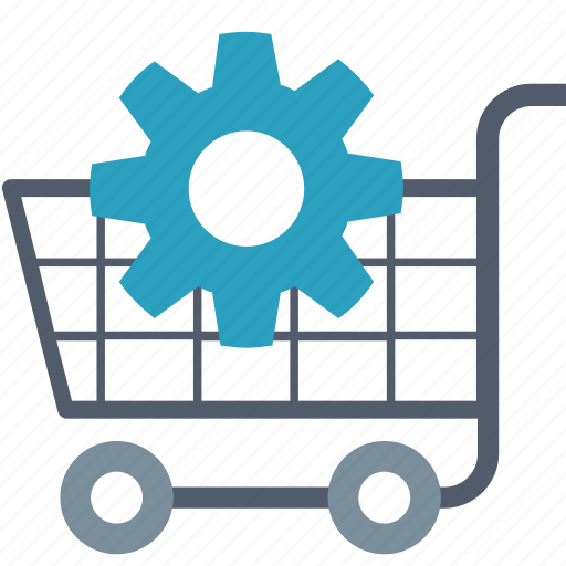 Optimization, cart, ecommerce, gear, improvement, seo, shopping icon - Download on Iconfinder