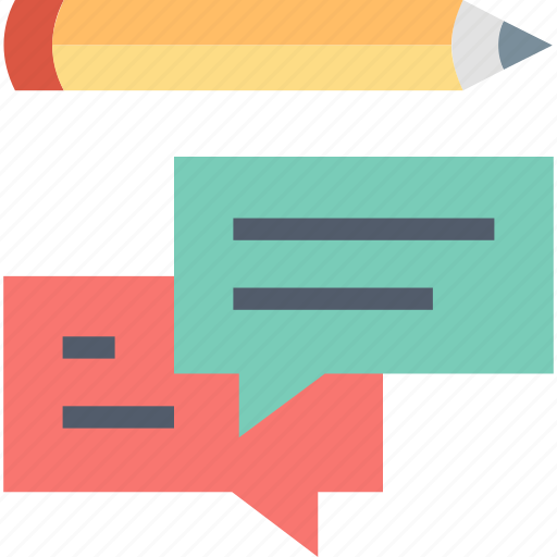 Feedback, comment, message, pencil, reaction, reply, response icon - Download on Iconfinder