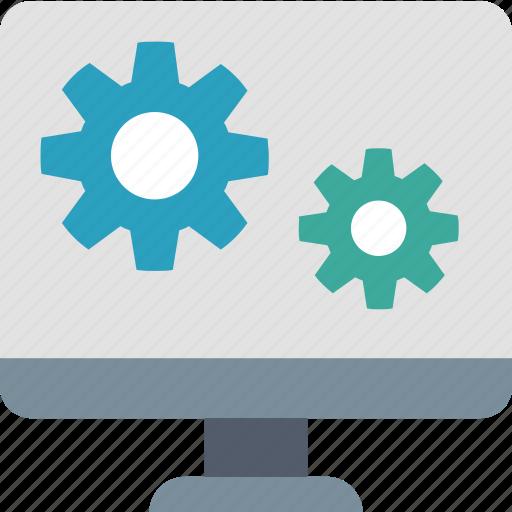 app, computer, development, gears, interface, software, ui icon