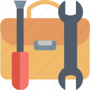 briefcase, help, screwdriver, support, technical, tools, wrench icon