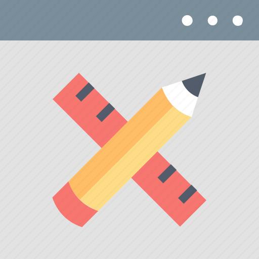 design, internet, pencil, ruler, tools, web, website icon