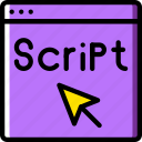 code, coding, development, programming, script icon