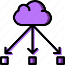 cloud, code, coding, development, programming, transfer icon